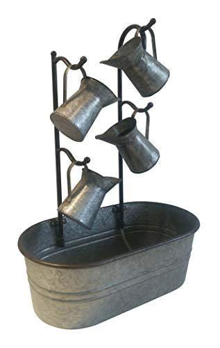 Backyard Expressions 906028 Metal Cascading Water Jug Fountain