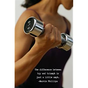 Amazon.com: Woman Lifting Weight MOTIVATIONAL POSTER with