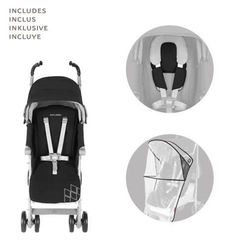 Maclaren Techno XT Stroller, Black/Silver by Maclaren (Image #6)