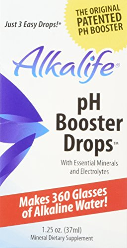 Alkalife Alkaline pH Booster Drops with Antioxidants, 1.25 oz Bottle