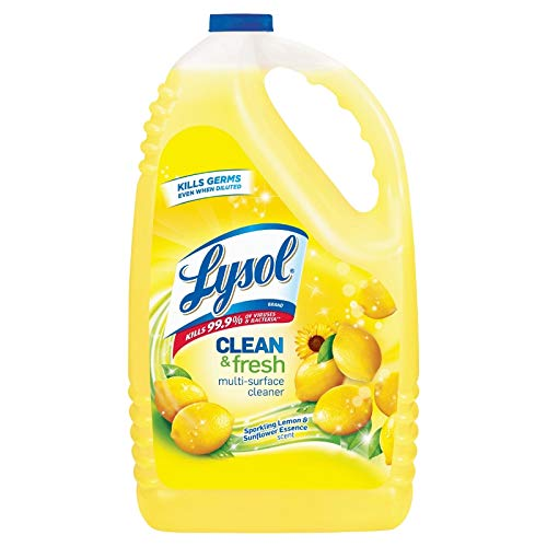 - Lysol Clean & Fresh Multi-Surface Cleaner, Lemon & Sunflower, 144oz