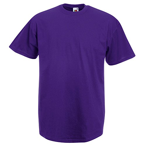 Fruit of the Loom Mens Classic Value T Shirt Purple