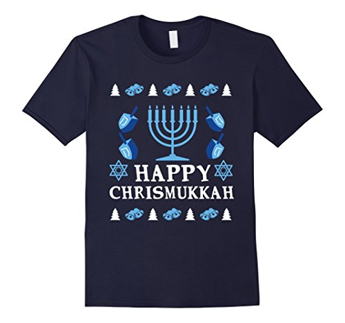 Israeli Costume Men (Mens Happy Hanukkah Christmas T Shirt | Menorah Its Lit Jew Xmas 3XL)