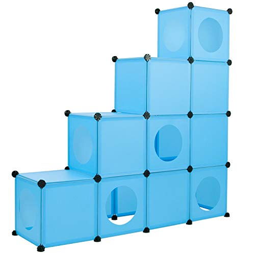FrontPet Cat Condo/Blue XL Modular 109 Piece Cat Condo/Cat House/DIY...