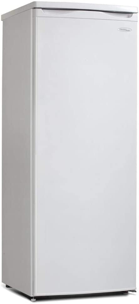 Danby DUFM059C1WDD 5.9 Cu.Ft. Garage Ready Upright, Energy Star Freezer with 5 Shelves, Mechanical Thermostat and Manual Defrost