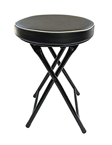 Ethels Home Goods Light Weight Padded Folding Stool, Black Cushioned Folding Stool | Heavy Duty Metal Frame by Ethels Home Goods
