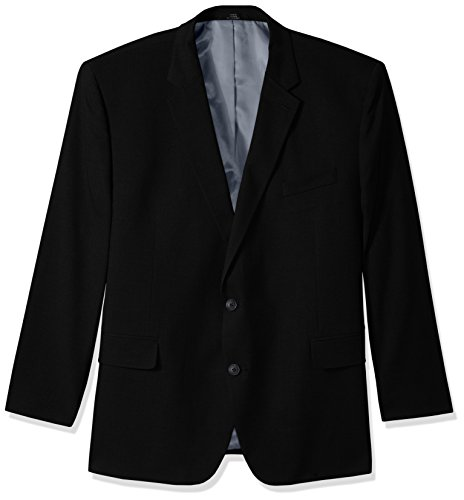 Tall Suit Coat (Haggar Men's Big and Tall B&t J.m Premium Stretch Classic Fit 2-Button Coat, Black, 54R)