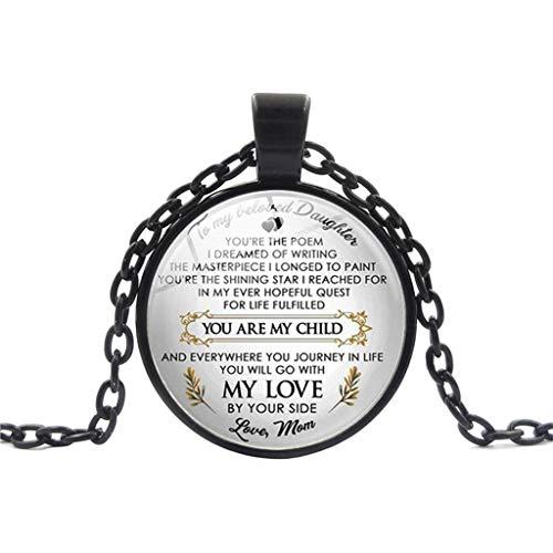 (HIRIRI Daily Accessories Gifts Souvenir Parent Children Necklace Family Tender Feeling Wonderful Design Black )