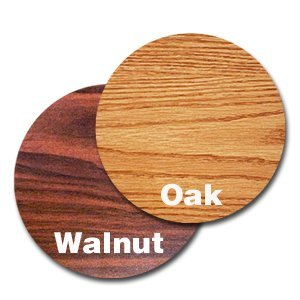 Oak Street Manufacturing OW30R Two Sided Round Tabletop, 30'' Diameter x 1'' Thick, Oak/Walnut by Oak Street Manufacturing