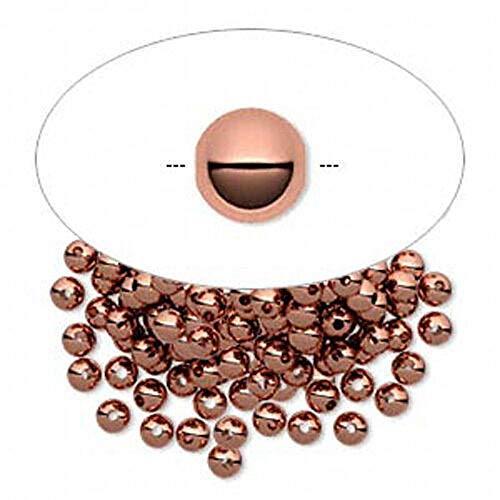 100 Pcs 3mm Smooth Pure Copper Round Spacer Beads