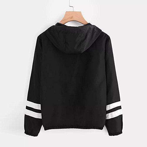 Nouvelle Sweatshirt Jumper Blouse 2018 Hiver Blouson Pullover Manteaux Casual Automne Hauts Outwear Confortable Printemps Femme Sport Élégant Veste Noir Mode Tops dUO7p