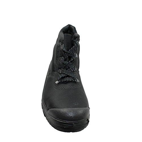 Auda - Calzado de protección de Piel para hombre negro negro, color negro, talla 38 EU