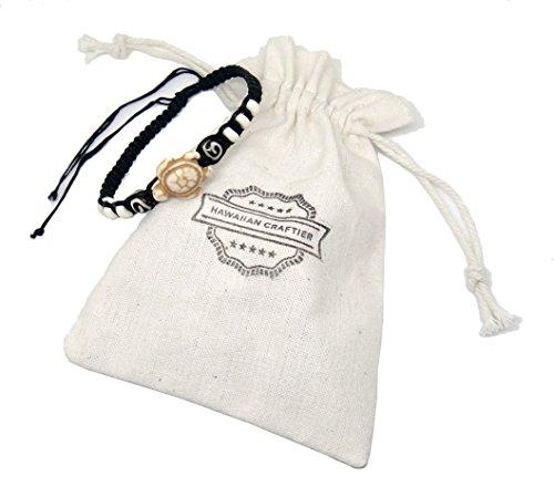 Diy Shower Curtain Costume (Sea Turtle Hemp Bracelet - Hawaiian Craftier White Cream Tortoise Adjustable Wristband for Women - White Bead Macrame Cotton)