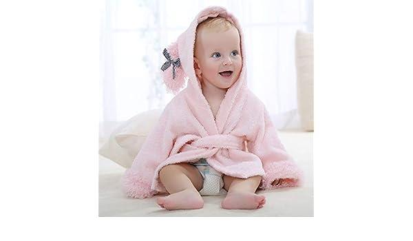 GJX Albornoz Unisex bebé algodón con Capucha Animal Bata la Ropa de Noche Homewear para 0-24 Meses niño niños Muchachas de los bebés Mejor Regalo Pink: Amazon.es: Hogar