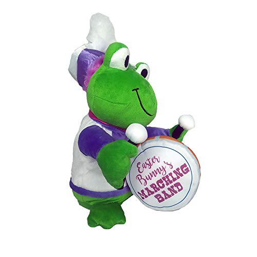- Musical Plush Animated Easter Frog Playing Drum Dances and Sings Bunny Cheer (Frog)