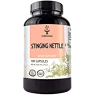 Stinging Nettle Root 100 Capsules 500 mg   Filled with Organic Stinging Nettle Root   Non-GMO
