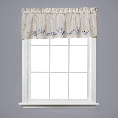 Breeze Window Valance - Saturday Knight Seabreeze 57 X 13 Valance in Ocean