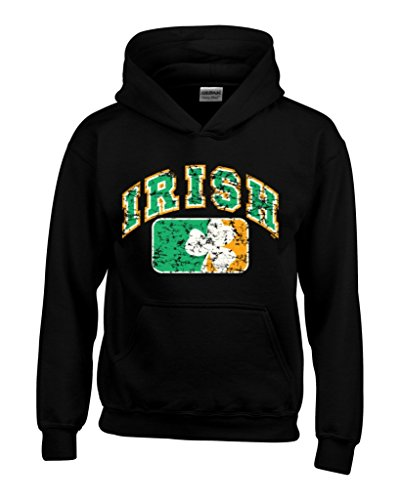 Shop4Ever Vintage Irish Flag Shamrock Hoodies Saint Patrick's Day Sweatshirts