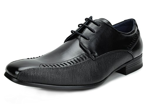 Bruno Marc Men's Gordon-01 Black Leather Lined Snipe Toe Dress Oxfords Shoes – 7 M US