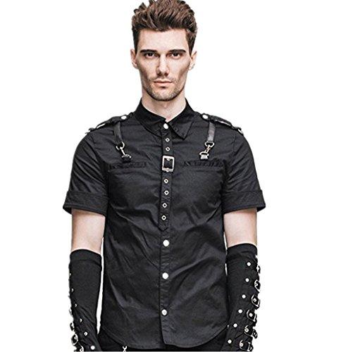 katoot-steampunk-casual-button-shirt-trendy-men-short-sleeve-blouses-xl