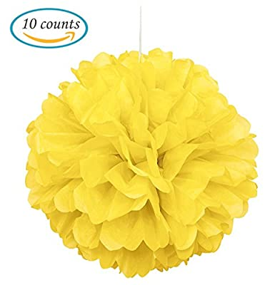 Hmxpls 10pcs Tissue Paper Pom-poms Flower Ball Wedding Party Outdoor Decoration