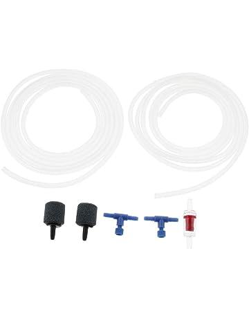 B Blesiya 2 Piezas Tubo de Oxígeno Regulador Válvula Complimentos Pecera Acuario Plantado Fácilmente Cómodo