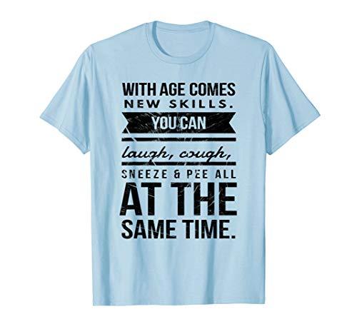- New Skills Seventy 70th Birthday Pun Gag Gift T Shirt