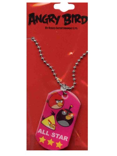 Angry Birds Dog Tags - Red Angry Birds All Star Dogtag - Angry Birds Dog Tag