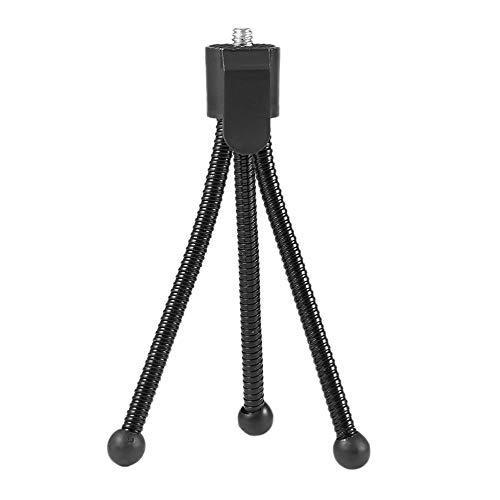 ミニデスクトップ三脚 カメラ用 金属製携帯電話三脚スタンド ユニバーサル 柔軟 ポータブル 金属製三脚スタンドホルダー デジタルカメラミニDVプロジェクター用 トラベルアクセサリー   B07PVK6JY6
