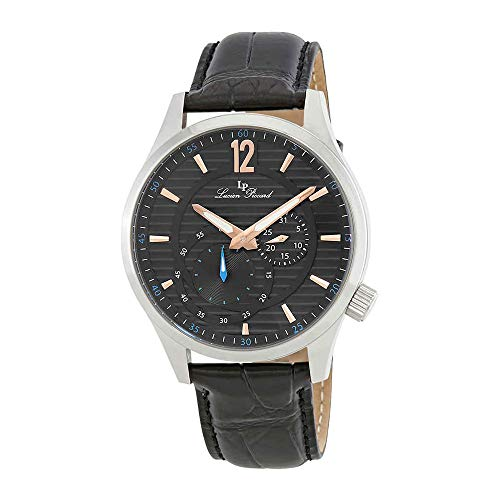 Lucien Piccard Men's 'Burano' Quartz Stainless Steel and Black Leather Casual Watch (Model: LP-40022-01-RA)