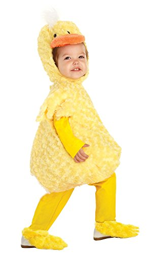 Duck Fancy Dress Costumes (UHC Plush Yellow Duck Outfit Toddler Fancy Dress Halloween Costume, L (2T-4T))