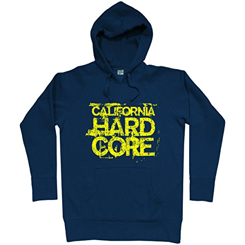 Smash Vintage Men's California Hardcore Hoodie - Navy, XX-Large