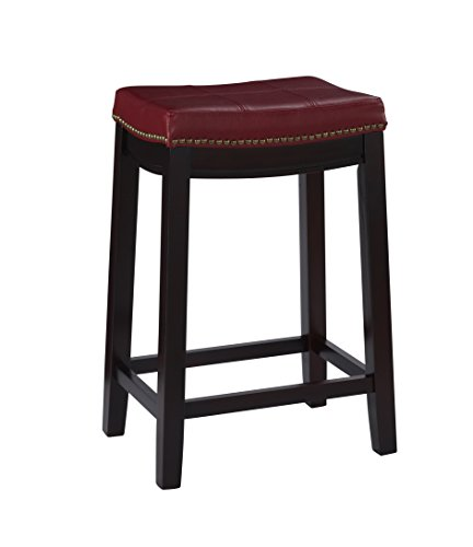 Linon Claridge Counter Stool Red Homegoodsreview