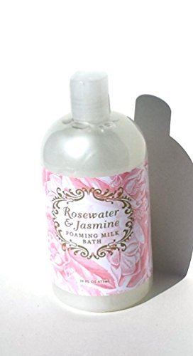 Foaming Bath Jasmine (Greenwich Bay ROSEWATER JASMINE Bubble Bath, Foaming Milk Bath with Buttermilk, Shea Butter and Cocoa Butter 16 oz.)