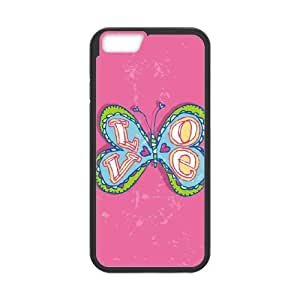 iPhone 6 Plus 5.5 Inch Cell Phone Case Black Love Butterfly LV7898772