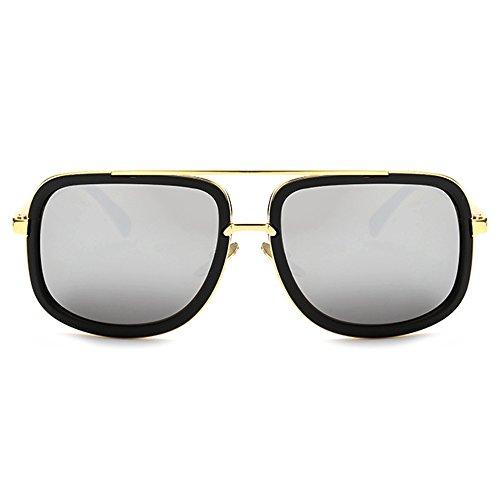 TIJN Men Retro Fashion Square Flat Top Wayfarer Aviator Sunglasses - Sunglasses Wayfarer Top Brands