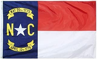 product image for All Star Flags 4x6' North Carolina Nylon State Flag - All Weather, Durable, Outdoor Nylon Flag