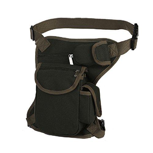 Bolso de Cintura Bolso de Pierna de Tela de Lona para Hombre para el Deporte al Aire Libre Verde ejército