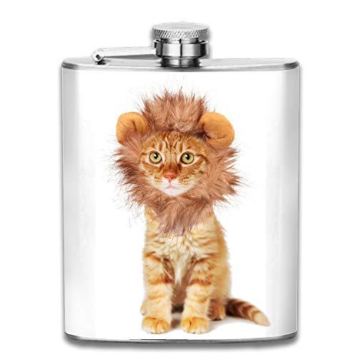 Cat Halloween Costumes Leak Proof Stainless Steel Pocket Hip Flask For Women Men 7 Oz -