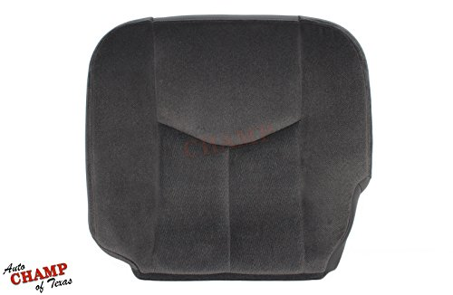 Auto Champ Of Texas 2005 GMC Sierra 1500 SLE Z71 -Driver Side Bottom Cloth Seat Cover Dark Gray