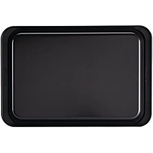 Anolon Allure Nonstick Bakeware, Nonstick Cookie Sheet / Baking Sheet – 10 Inch x 15 Inch, Onyx/Black/Pewter