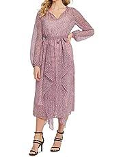 DKNY Womens Pink Leopard Print Jewel Neck Tea-Length Dress AU Size:6