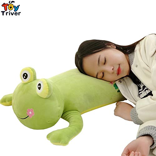 eSunny Soft Plush Big Eye Green Frog Toy Stuffed Dolls Long Pillow Cushion Kids Children Birthday Gift Home Shop Decoration Must Have Tools BFF Gifts The Favourite Anime Superhero Classroom by eSunny