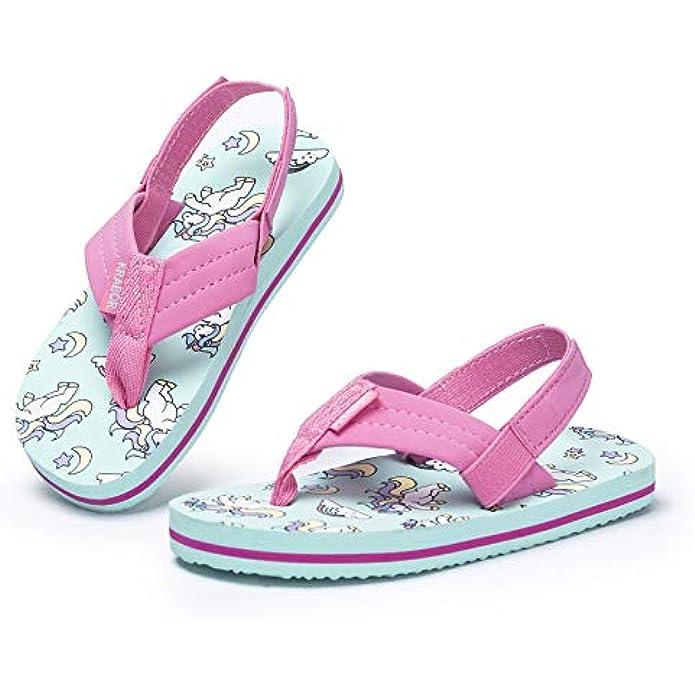 Boys Girls Flip Flops Sandals with Back Strap for Toddler/Little Kid/Big Kid