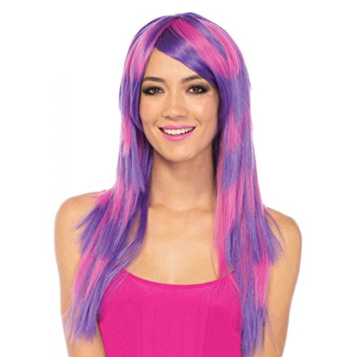 Long Striped Cheshire Cat Wig Costume Accessory (Womens Cheshire Cat Costume)