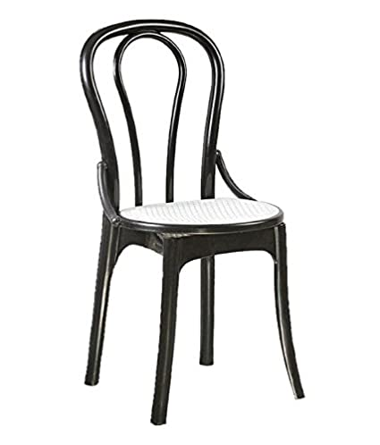 Incredible Dzyn Furnitures Supreme Pearl Cane Chair Black White Inzonedesignstudio Interior Chair Design Inzonedesignstudiocom