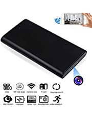 Monkaim 1080P 10000mAh WiFi Spy Hidden Camera Power Bank Portable Power Bank Camera with Motion Detection and Night Vision, Real-time remotely view Spy Camera Nanny Cam for Home Security