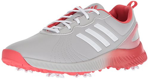 adidas Women's W Response Bounce Golf Shoe, Grey Two FTWR White/Real Coral s, 5 Medium US