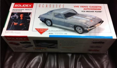 solidex video or vhs rewinder for your vcr Licensed by Chevrolet model v1963 classic corvette