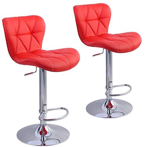 Giratorio-taburete-de-Bar-Kitchen-Yopih-ajustable-para-sillas-de-comedor-taburetes-rojo-juego-de-2